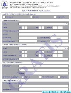 formulir SP4A