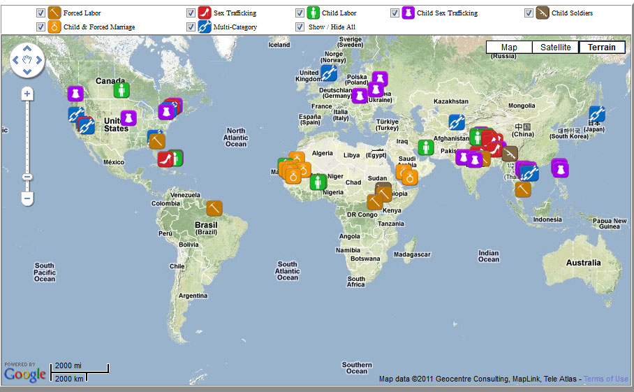The Human Trafficking Project: Global Anti-Slavery Action Map ...