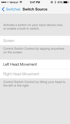 iOS 7 le permite controlar su dispositivo con movimientos de la cabeza