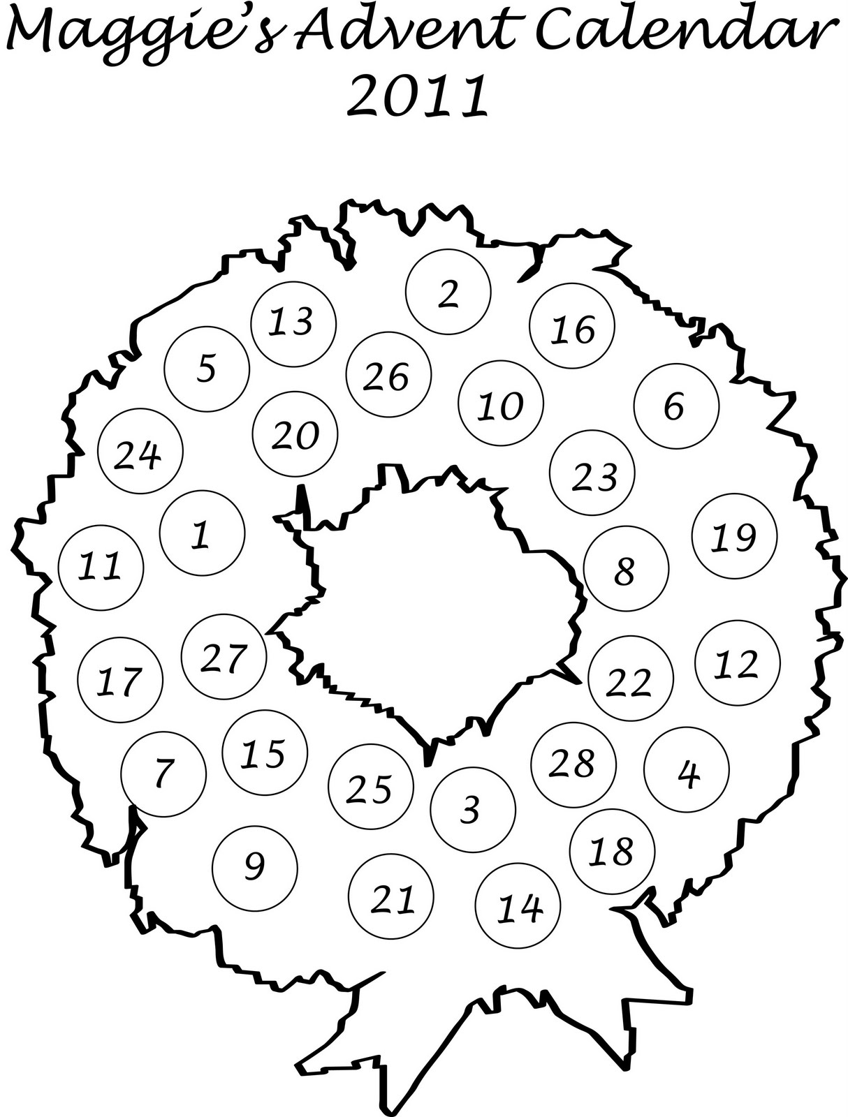 Paper Advent Wreath Template | Search Results | Calendar 2015
