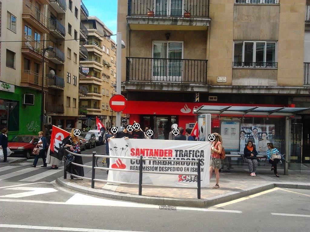 Liberar las mentes salamanca ocupaci n simb lica de una for Horario oficinas banco santander barcelona