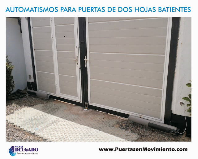 Puertas garaje tenerife motor puerta garaje batiente 2 hojas ati - Automatismos para puertas de garaje ...