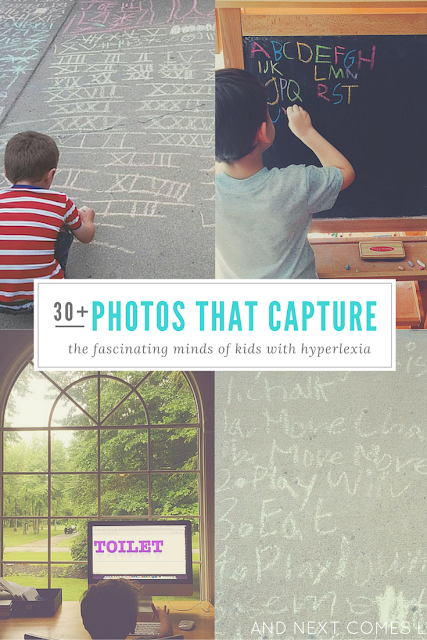 30+ photos that capture the fascinating minds of kids with hyperlexia and Instagram accounts that you will want to follow if you want to learn more about hyperlexia from And Next Comes L
