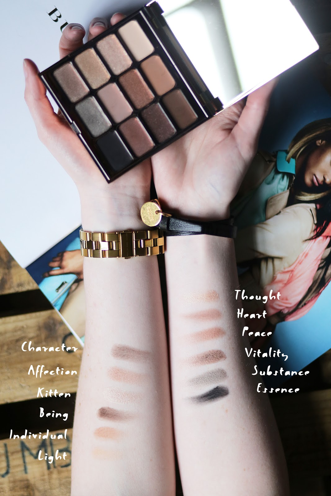 Stila Eyes Are The Window Shadow Palette SOUL Swatches