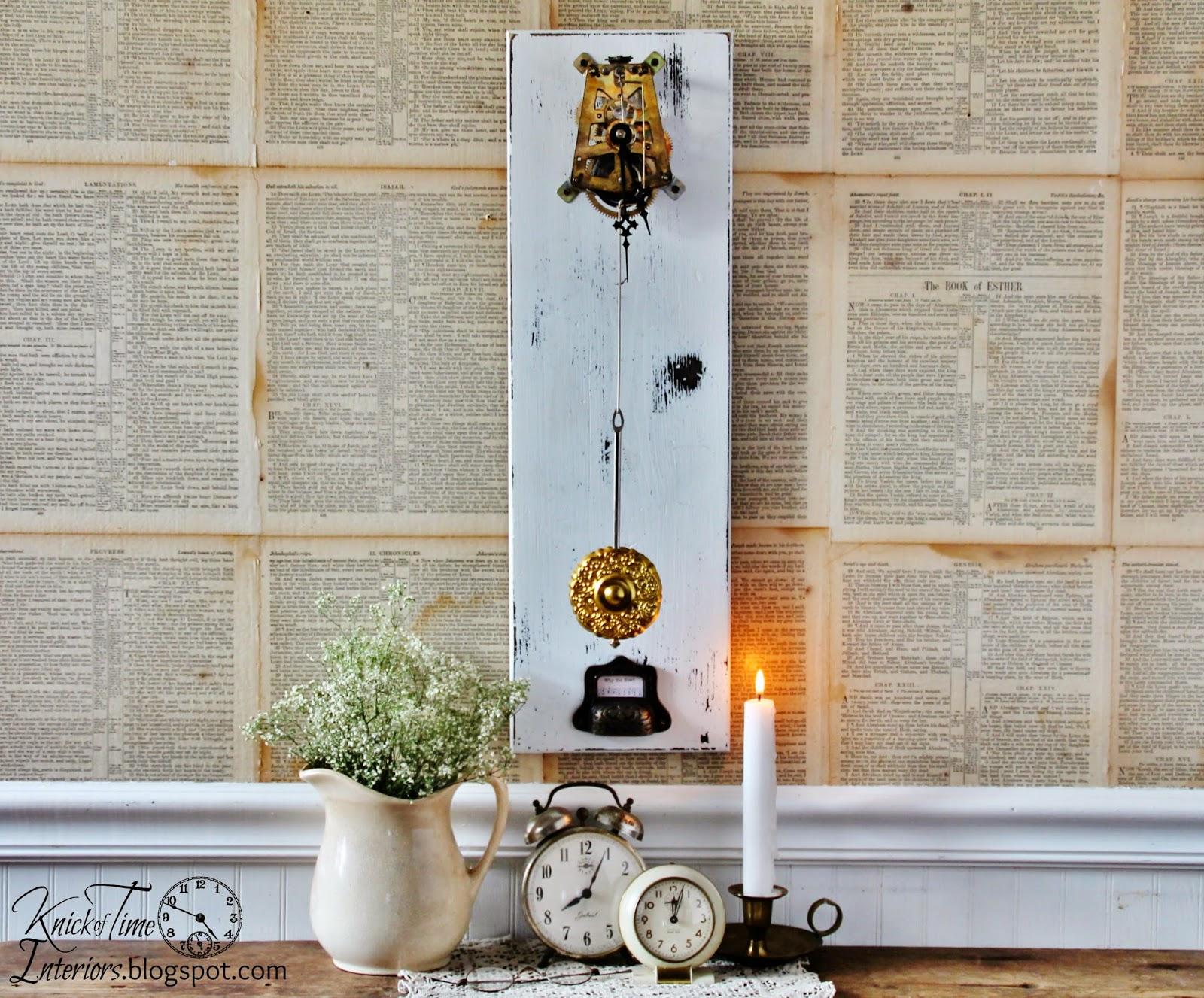 Repurposed Clock Parts Mechanical Gear Train Wall Art via Knick of Time & Repurposed Clock Gears Wall Art | Knick of Time