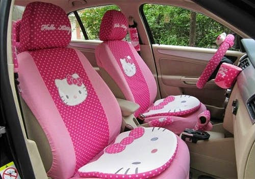 cute car interior decoration accessories for women car owners. Black Bedroom Furniture Sets. Home Design Ideas