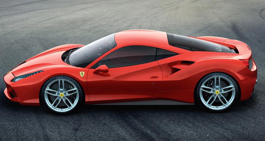 「フェラーリ488GTB」のサイドビュー