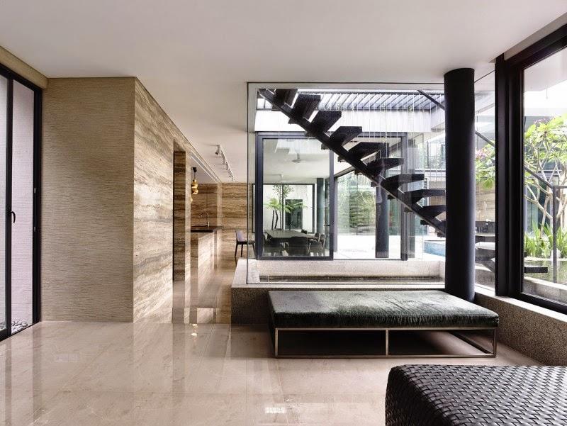 Singapore Contemporary House - interior design - lounge deisgn