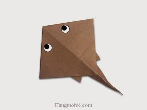 Cách gấp, xếp con cá đuối bằng giấy origami - Video hướng dẫn xếp hình sinh vật dưới nước - How to fold a Ray