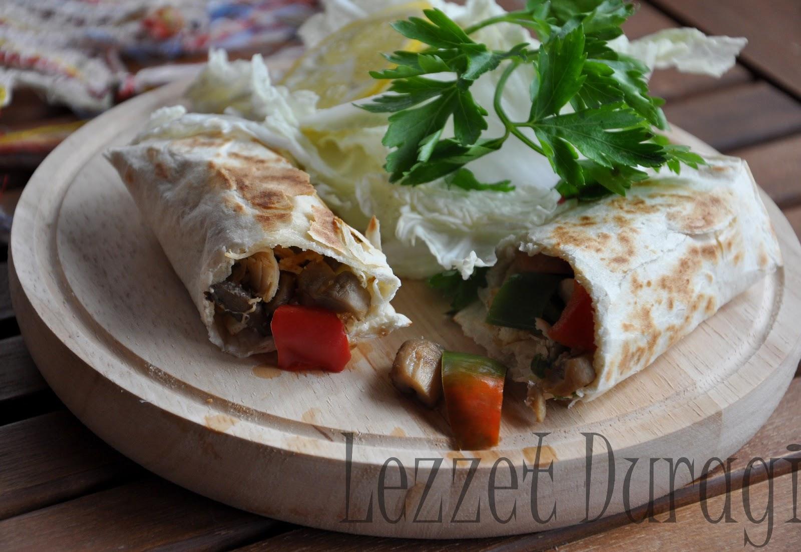 Sebzeli Tavuk Dürüm – Wrap
