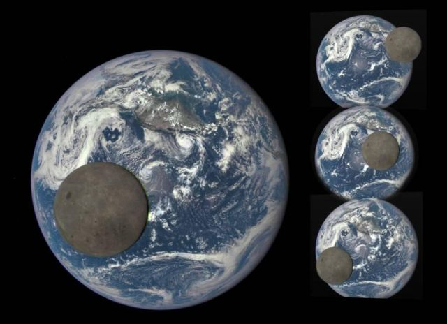 Epic View Of The Dark Side Of The Moon Transiting The Earth As - The best astronomy photographs of 2015 are epic