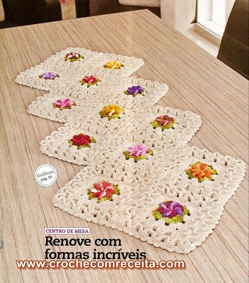 caminhos em croche em croche com receita