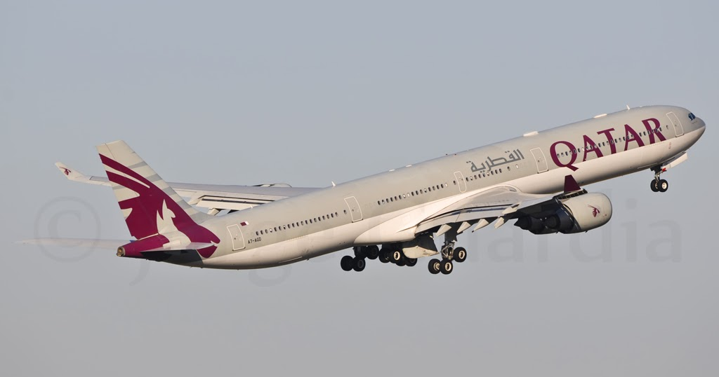 Madrid spotting qatar airways airbus a340 600 for Oficina qatar airways madrid
