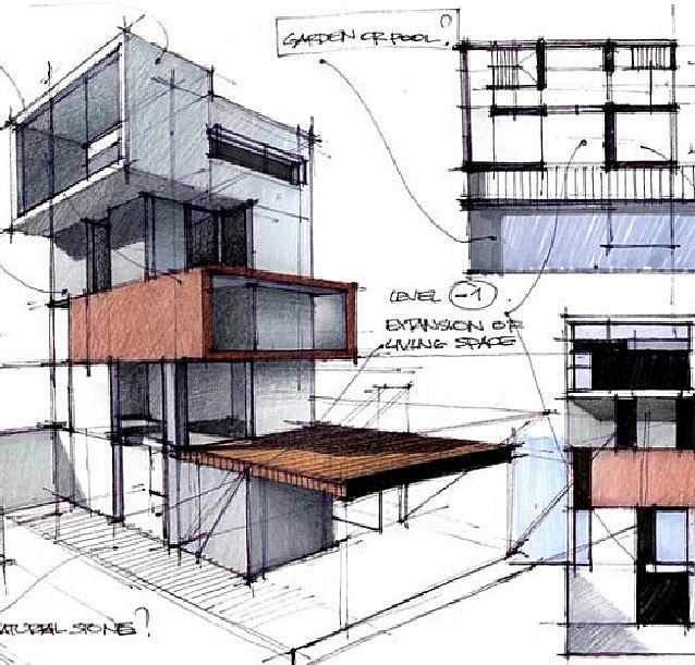 Dise o de interiores escuela de arte de motril bocetos for Diseno de interiores nota de corte