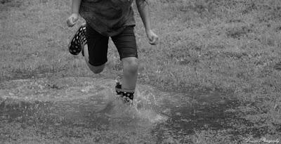 Jumping, Muddy, Puddles, Rain, Summer, Fun, Vacation, Travel