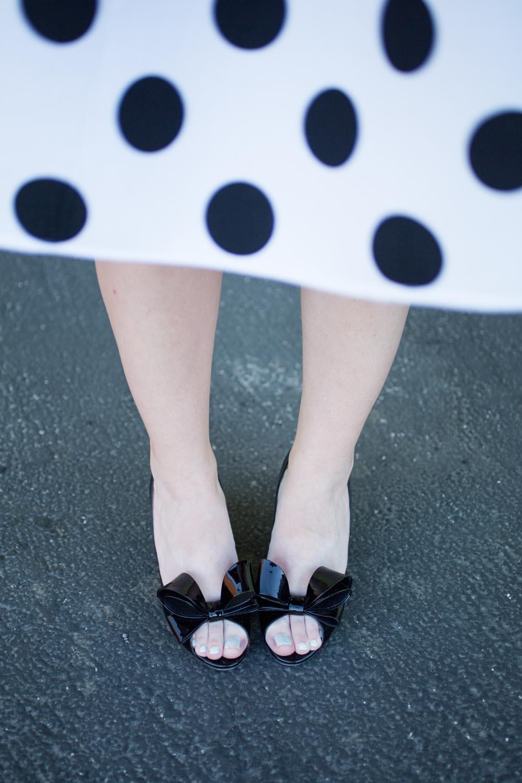 Polka Dots and Valentino Bow Heels