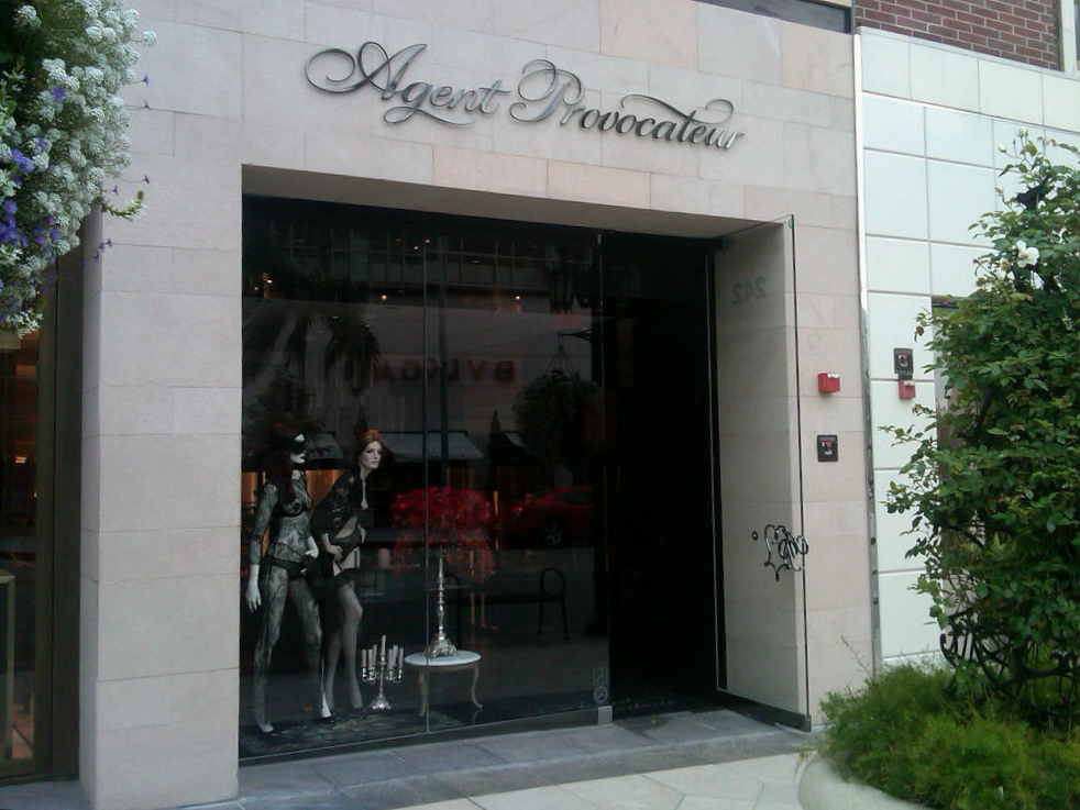dreaming in fashion agent provocateur opens their rodeo drive store with a sexy party. Black Bedroom Furniture Sets. Home Design Ideas