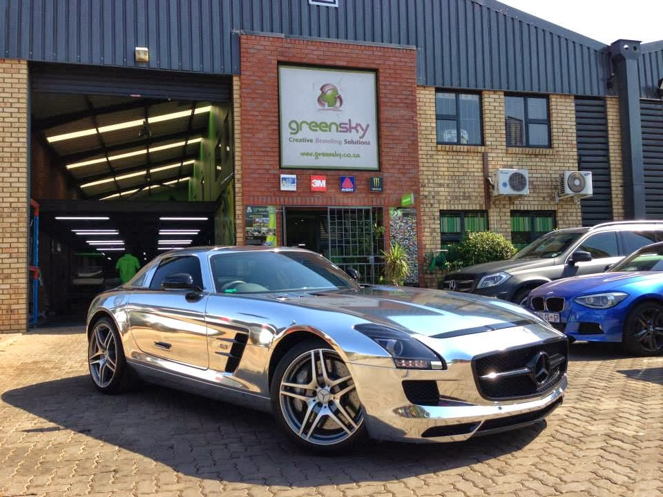 Full chrome mercedes benz sls amg in south africa for Mercedes benz south africa