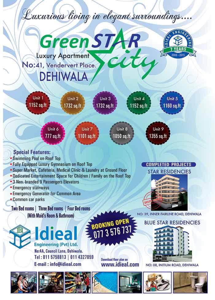 GreenStar City | Luxury Apartments - Dehiwala.