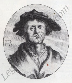 Biographical portrait this engraving by Lucus Kilian is taken from the first biographical study on Grunewald, published in the 17th century. The monogram suggests that the engraving is after a painting by Albrecht Diirer. This however cannot be proved as no such painting has survived.