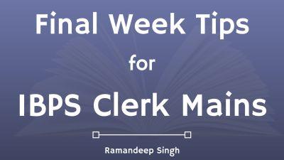 ibps clerk mains