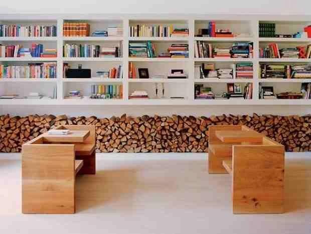 Polana drewna jako dekoracja