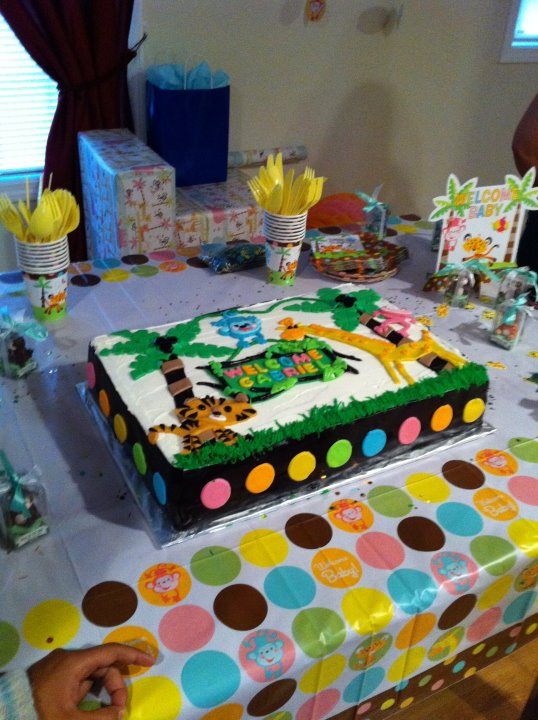 Jungle Theme Sheet Cake Images http://jescakes.blogspot.com/p/cake-gallery.html