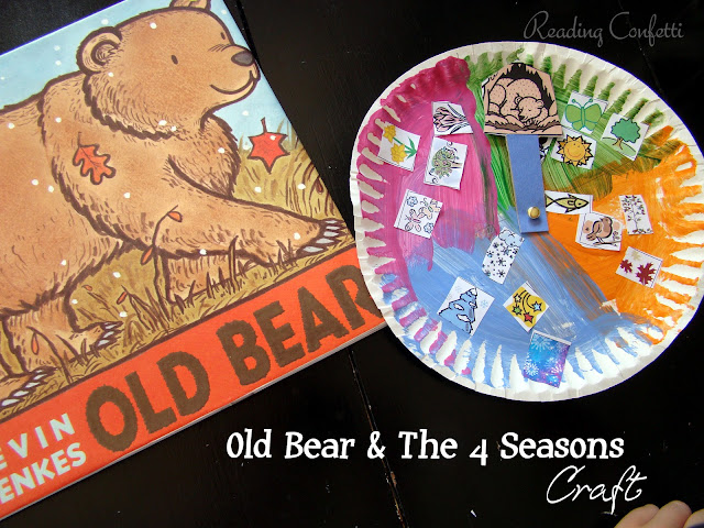 4 seasons craft and book activity for Old Bear by Kevin Henkes