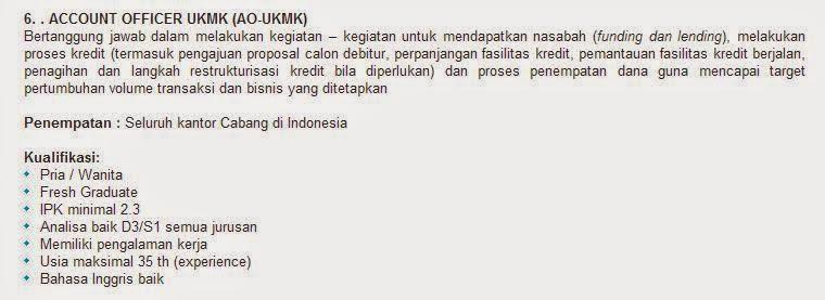 lowongan kerja bank bukopin malang oktober 2014