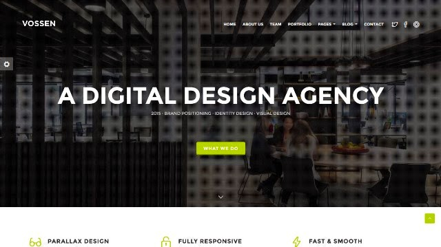 Vossen - Creative One Page Parallax Drupal Theme