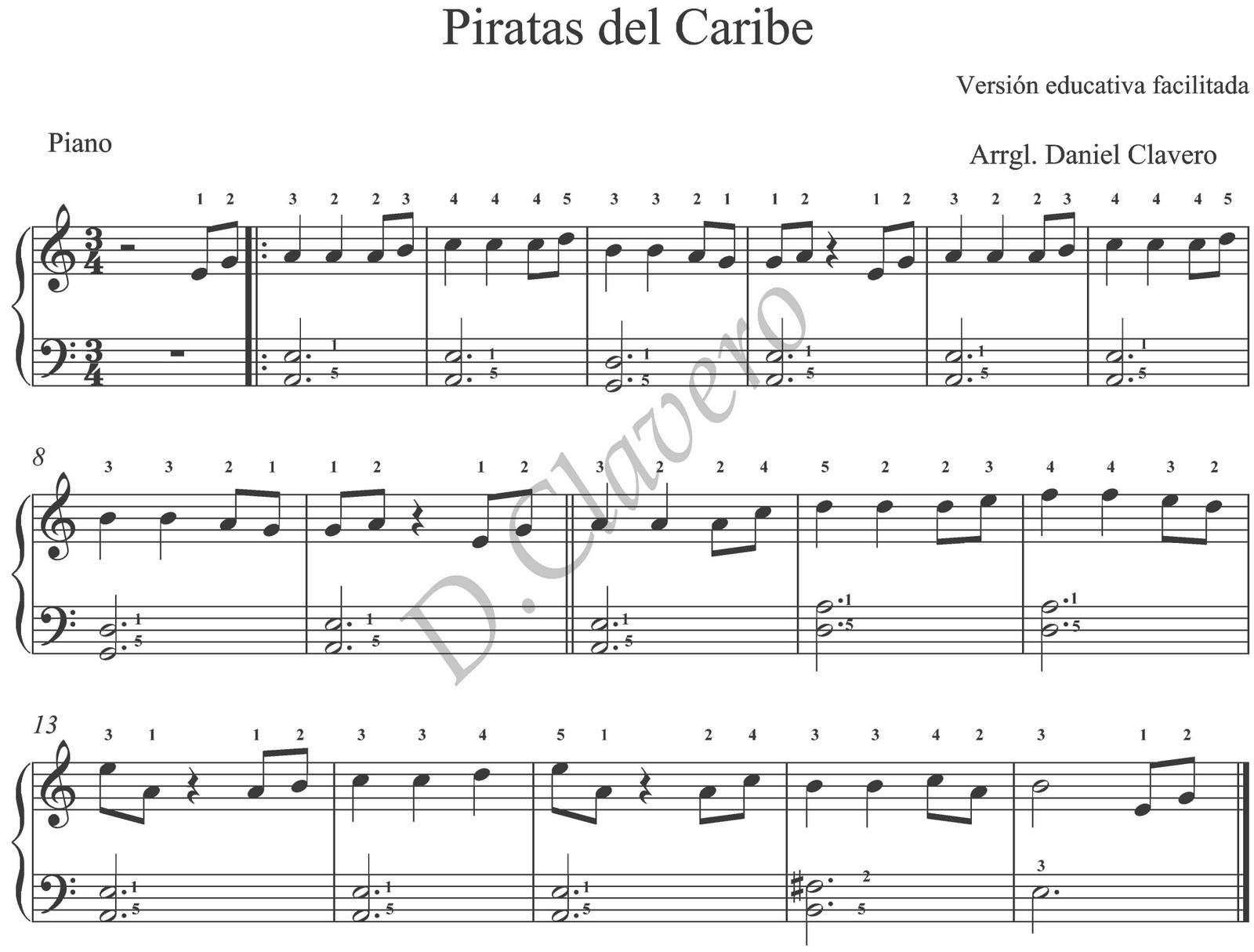 Partitura Piratas Del Caribe Piano Pdf Unifeed Club