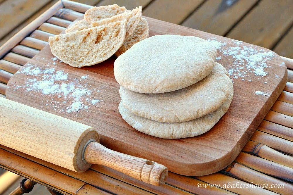 Whole Wheat Pita Bread for #Twelve Loaves
