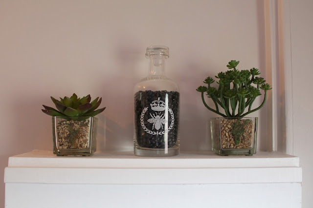 John Lewis Fake Plants and Glass Bottle with Stopper - Home Interior Design