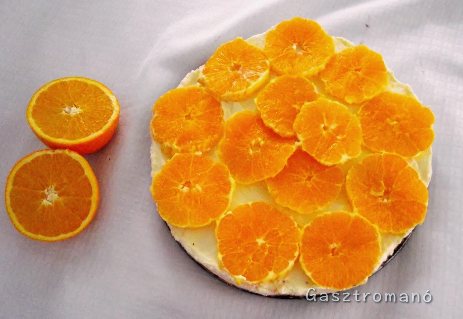 narancsos túrótorta