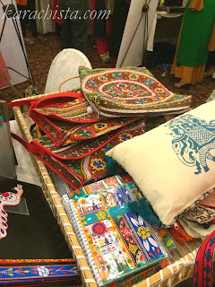 Cushions at the Crafter's Expo Karachi