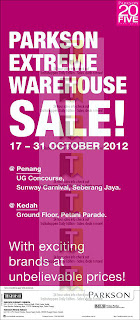 Parkson Extreme Warehouse Sale-Penang