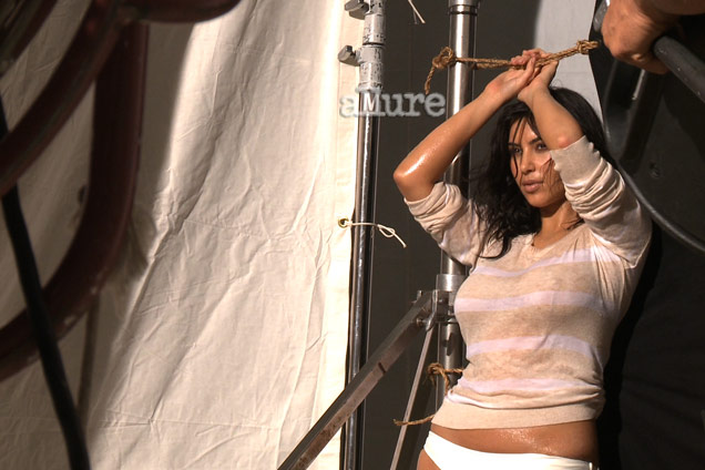 Kim Kardashian does a shipwrecked theme shoot for Allure, March 2012