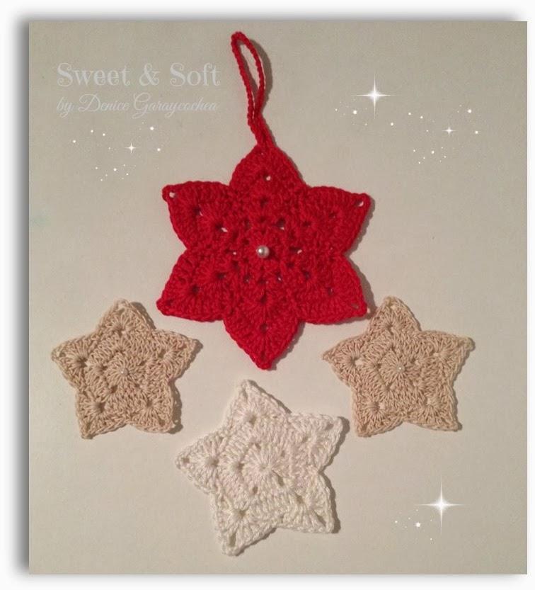 La magia del crochet estrellas navide as - Esquema punto estrella crochet ...