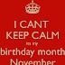 Dah november dah....