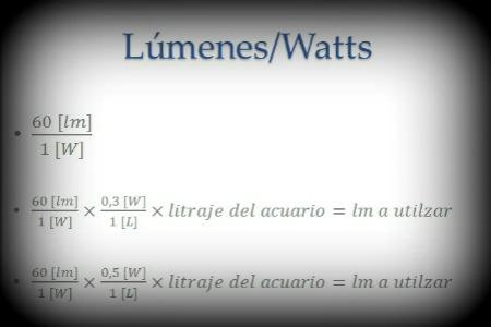 Lumenes por watt