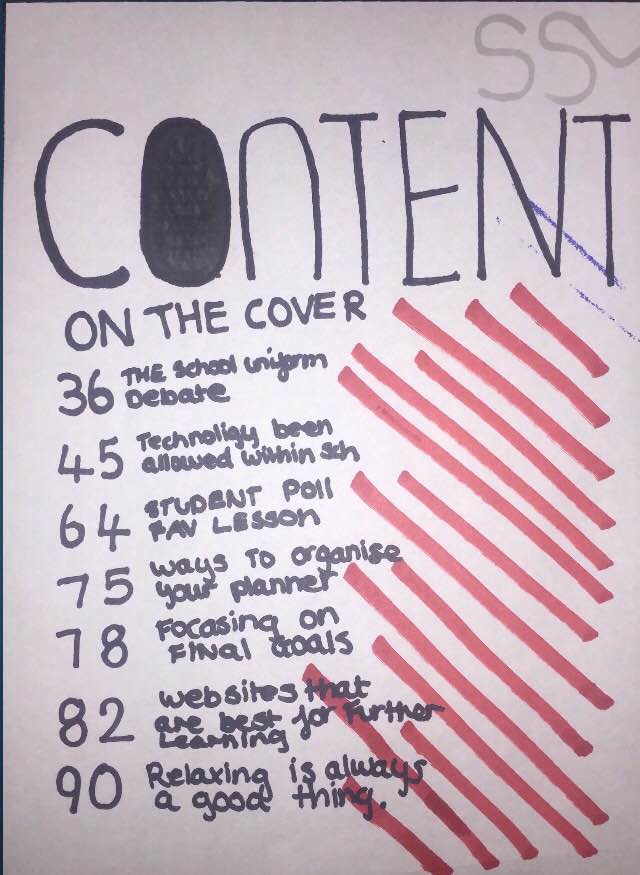 cover page of project