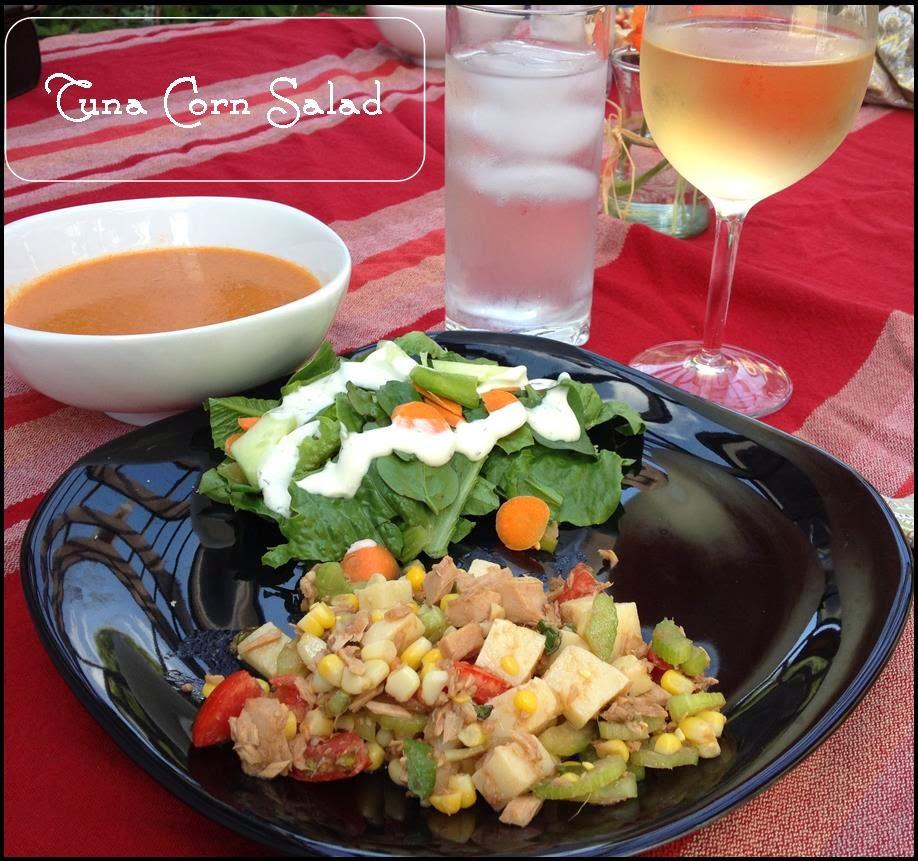 Delicious summer tuna corn salad - www.lifeinrandombits.com #salad #dinner #recipe