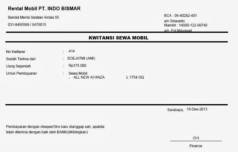 Contoh Invoice Agen Travel Puasav