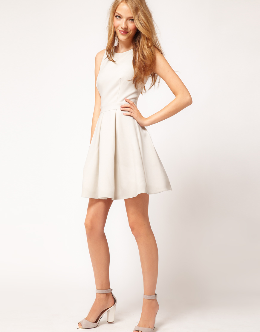 Asos Skater Dress With V Back