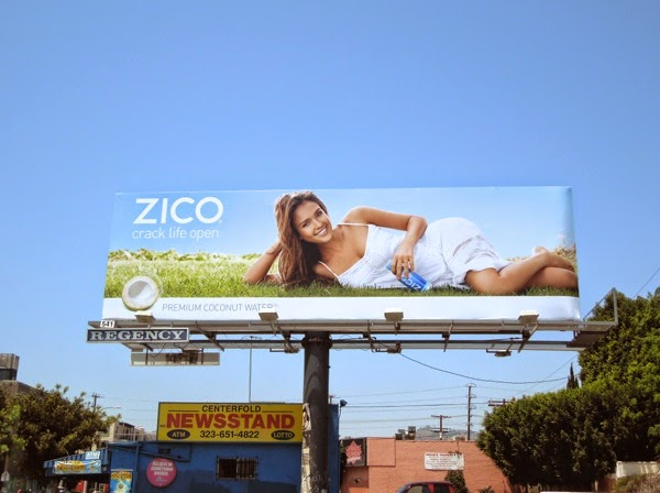 Jessica Alba Zico Coconut Water Crack life open billboard