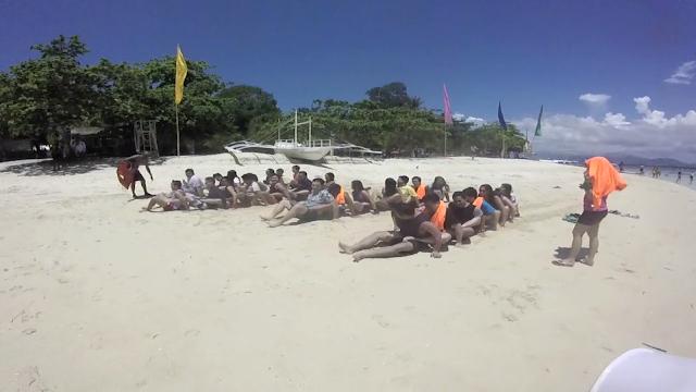 Human Centipede Game - FSRM Outing Palawan 2015