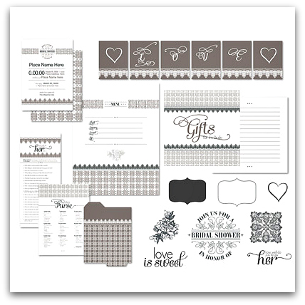 Stampin' Up! For The Bride Ensemble Digital Download