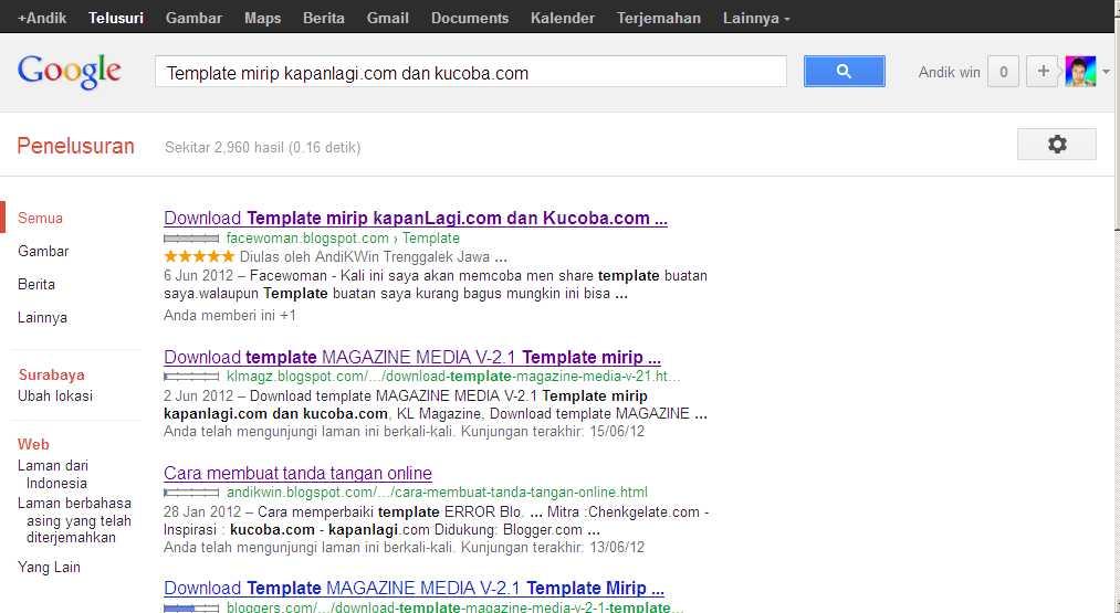 Blog Saya Mulai Menunjukkan Tajinya di Google