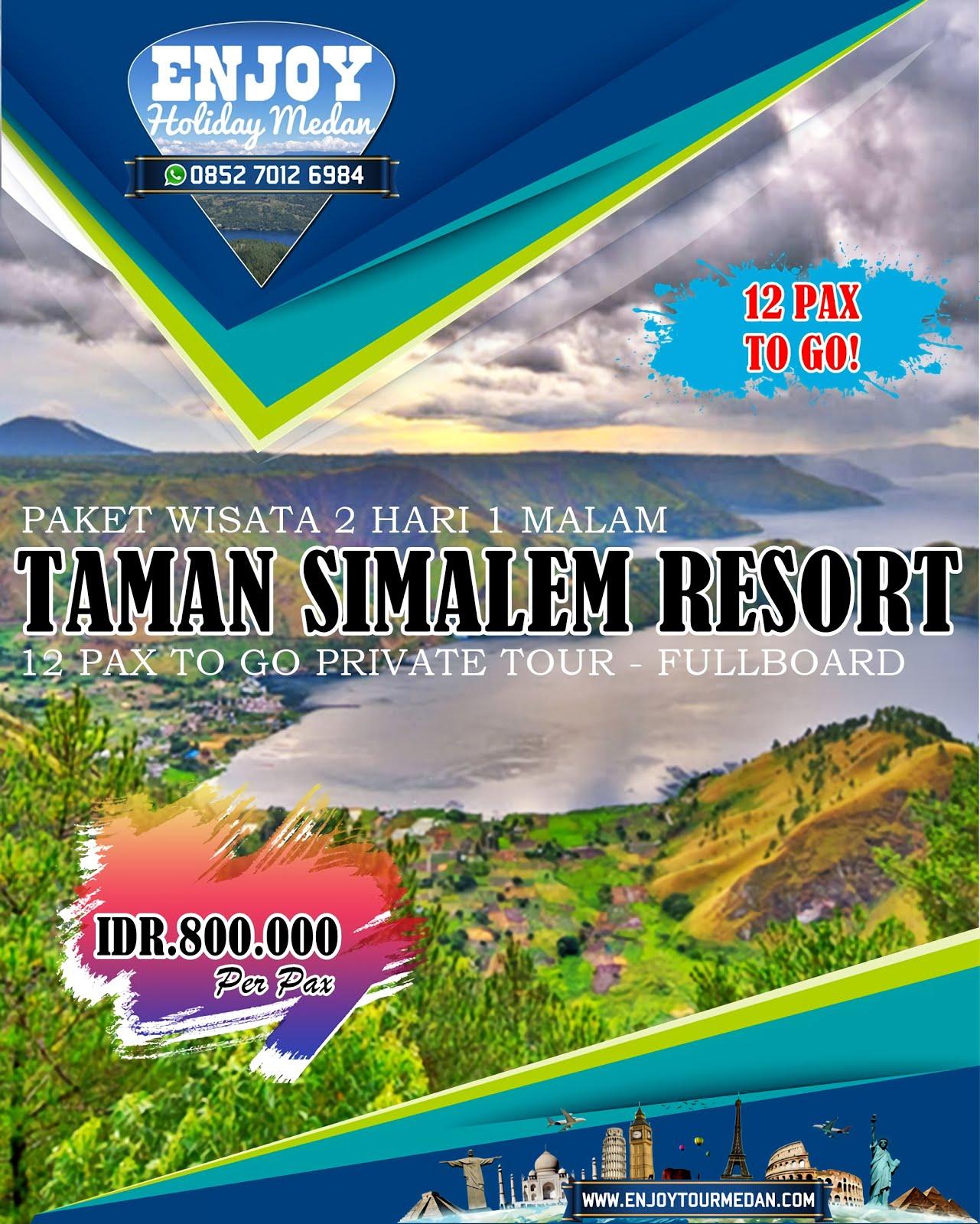 2H1M Paket Tour Taman Simalem Resort 12 Pax