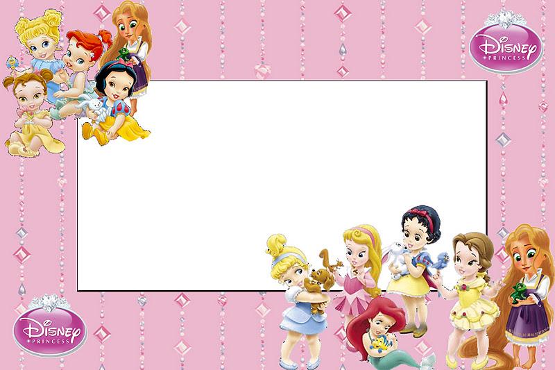 Disney Princess Babies: Free Printable Party Invitations ...